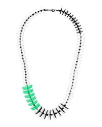 TOPSHOP | Green Plastic Disc Necklace | Lyst