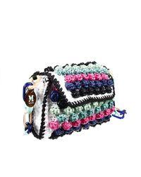 M Missoni | Blue Clutch Bag Shoulder Raffia | Lyst