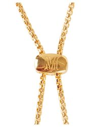 Monica Vinader - Metallic Gold-plated Vermeil Diamond Esencia Bracelet - Lyst