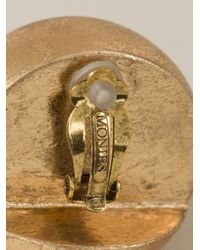 Monies - Metallic Chunky Dome Earrings - Lyst