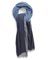 VINCE | Gray 'degrade' Ombre Scarf for Men | Lyst