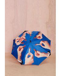 Nasty Gal - Blue Seletti Wears Toiletpaper Lipstick Umbrella - Lyst