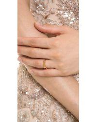kate spade new york - Metallic Things We Love Adjustable Mrs Ring - Gold - Lyst