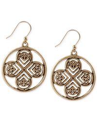 Lucky Brand - Metallic Gold-Tone Clover Drop Earrings - Lyst