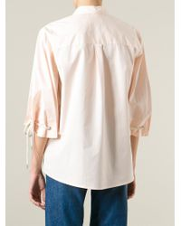 See By Chloé - Pink Tied Cuffs Shirt - Lyst