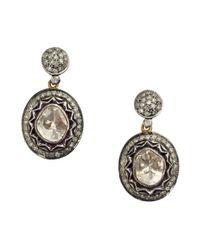 Amrapali | Metallic Natural Cut Diamond Drop Earrings | Lyst