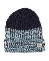 Neff | Blue Chunky Knit Beanie for Men | Lyst