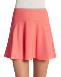 Saks Fifth Avenue | Pink Textured Flippy Skirt | Lyst