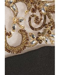 Notte by Marchesa Metallic Embellished Silk Gown