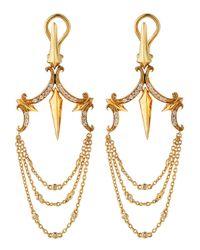 Stephen Webster - Metallic Diamond Dagger Chandelier Earrings - Lyst