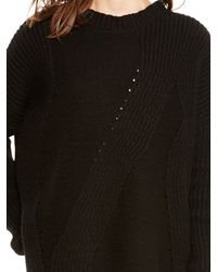 DKNY - Black Pure Novelty Stitch Pullover - Lyst
