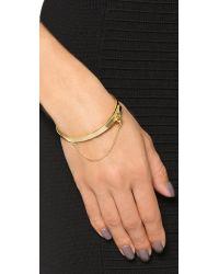 Eddie Borgo Metallic Extra Thin Safety Chain Bracelet