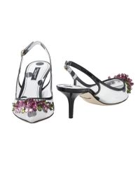 Dolce & Gabbana | White Slingback With Jewels | Lyst