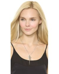 Vanessa Mooney - Metallic The Hachi Necklace - Clear/Bronze/Silver - Lyst