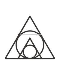 Marc By Marc Jacobs Black Rubberized Geometric Brooch