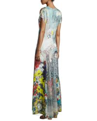 Johnny Was Multicolor Lulu Floral-Print Maxi Dress