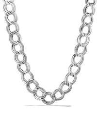 David Yurman | Metallic Curb Link Wide Necklace | Lyst