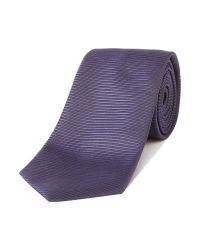 HUGO | Purple Stripe Tie for Men | Lyst
