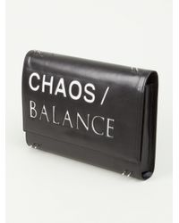 Undercover - Black Printed Clutch Bag - Lyst