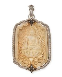 Armenta - Metallic New World Champagne Diamond Buddha Pendant - Lyst