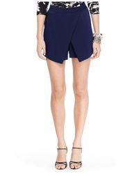 Lauren by Ralph Lauren | Blue Angled Pleat Shorts | Lyst