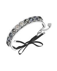 Swarovski - Metallic Swarovksi Bracelet Palladiumplated Gray Ombre Crystal Bangle Bracelet - Lyst