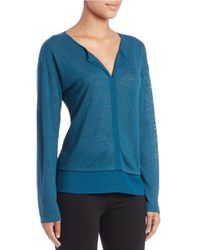 Sanctuary | Blue Mixed-media Long-sleeve Top | Lyst