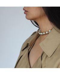 Jenny Bird | Metallic Lyons 14K Gold-Plated Pearl Choker | Lyst