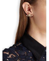 Vivienne Westwood | Metallic Small Neo Bas Relief Orb Stud Earrings | Lyst