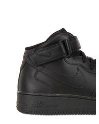 Nike | Black Air Force 1 Mid Top Sneakers for Men | Lyst