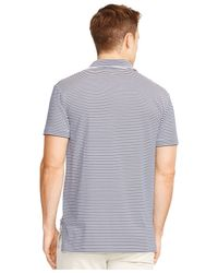Polo Ralph Lauren | Blue Striped Performance Jersey Polo Shirt for Men | Lyst