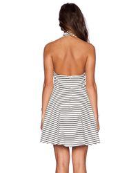 MINKPINK Black Find Me Guilty Halter Dress