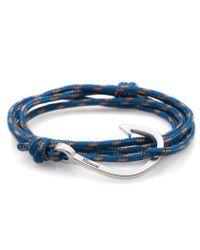 Miansai | Blue Caribbean Rope Silver Hook Bracelet for Men | Lyst