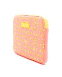 Marc By Marc Jacobs Pink Dynamite Logo Neoprene Tablet Case Bright Blue Multi