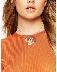 ASOS | Metallic Swirling Disc Choker Necklace | Lyst