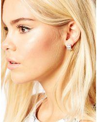 Oasis | Metallic Pearl And Flower Hoop Multipack Earrings | Lyst