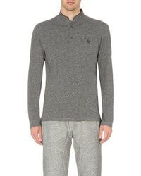 The Kooples | Gray Long-sleeved Cotton-piqué Top for Men | Lyst