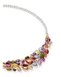 CZ by Kenneth Jay Lane | Multicolor Mix Cubic Zirconia Bib Necklace | Lyst