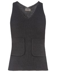 Undercover | Gray Knitted Tank | Lyst