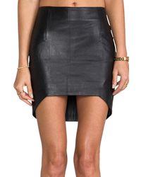 Nicholas - Leather Updown Skirt in Black - Lyst