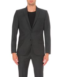 J.Lindeberg | Gray Slim-fit Single-breasted Wool Jacket for Men | Lyst