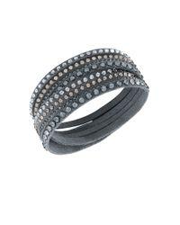 Swarovski | Slake Crystal Gray Wrap Bracelet | Lyst