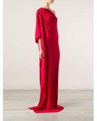 Lanvin Red One Shoulder Evening Dress