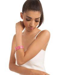 Trina Turk | Pink Enamel Mosaic Flex Bracelet | Lyst