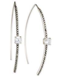 Judith Jack | Metallic Silver-tone Crystal Earrings | Lyst