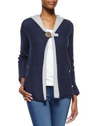 Pure Handknit - Blue Studio Classic Hoodie Sweater - Lyst