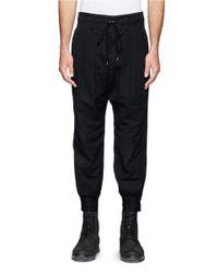 The Viridi-anne - Black Pleat Front Crop Pants for Men - Lyst