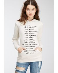 Forever 21 | Natural Hello Goodbye Graphic Hoodie | Lyst