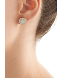 Marc By Marc Jacobs - Disc-o Smiley Studs Earrings - White - Lyst