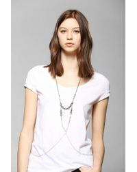 Urban Outfitters - Metallic Chain Link Body Chain Harness - Lyst